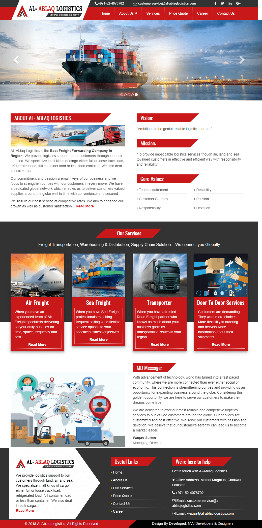 NVJ-Developers-Freight-Forwarder-website-design